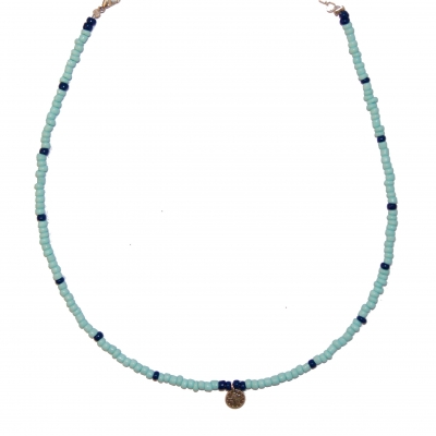 Blue coin choker