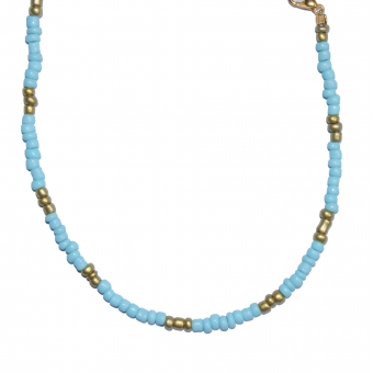 Blue-gold anklet