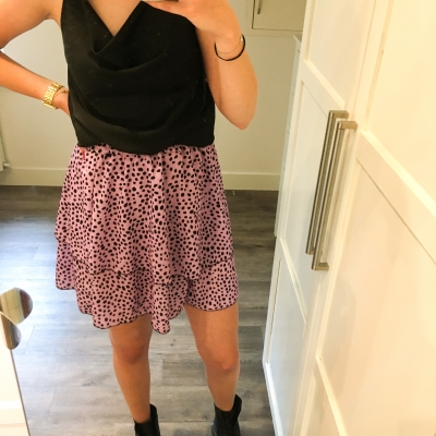 Lila dot skirt